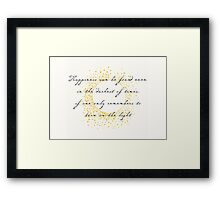 Dumbledore (Harry Potter) Quote - Wall Art Print Framed Print