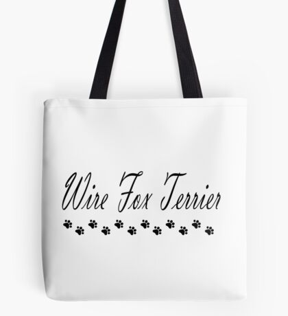 Wire Fox Terrier w/ Paws Tote Bag
