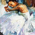 Ballerina — Buy Now Link - www.etsy.com/listing/172935207 by Leonid  Afremov