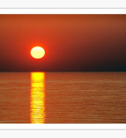 Red hot sun Sticker