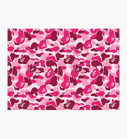 Bape Camo - Pink Photographic Print
