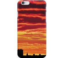 Sunset over New York City  iPhone Case/Skin