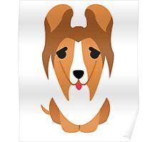 Sheltie Dog Emoji Thirsty Poster