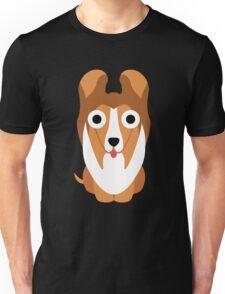 Sheltie Dog Emoji Shock and Surprise Unisex T-Shirt