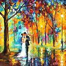 Rainy Wedding — Buy Now Link - www.etsy.com/listing/157760154 by Leonid  Afremov