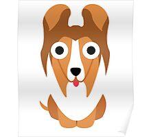 Sheltie Dog Emoji Shock and Surprise Poster
