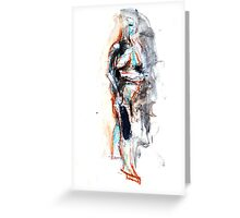 Abstract Figure Drawing Greeting Card
