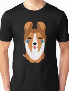 Sheltie Dog Emoji Teary Eye of Joy Unisex T-Shirt