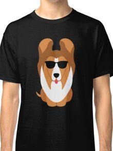 Sheltie Dog Emoji Cool Sunglasses Classic T-Shirt