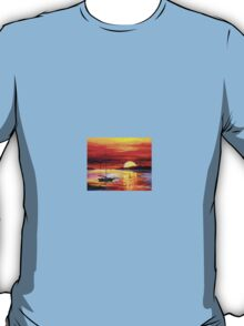 Golden Gate Bridge By The Sunset — Buy Now Link - www.etsy.com/listing/174175820 T-Shirt