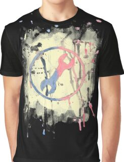 Watercolor Engineer logo in black Graphic T-Shirt