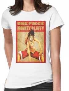 anime - luffy Womens Fitted T-Shirt
