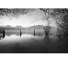 The Old Jetty, Kinloch NZ as a monochrome Photographic Print