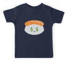 Salmon Sushi Emoji Money Face Kids Tee
