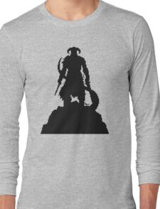 Skyrim Pixel Dragonborn Long Sleeve T-Shirt