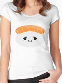 Salmon Sushi Emoji Pretty Please Women's Fitted Scoop T-Shirt