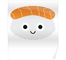 Salmon Sushi Emoji Shock and Surprise Poster