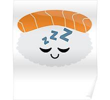 Salmon Sushi Emoji Sleep and Dream Poster