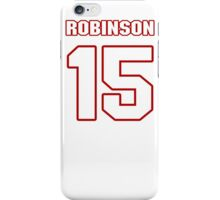NFL Player Aldrick Robinson fifteen 15 iPhone Case/Skin