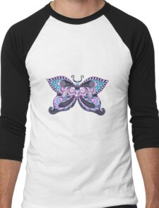 Social Butterfly Men's Baseball ¾ T-Shirt