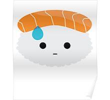 Salmon Sushi Emoji Speechless with Sweat Poster