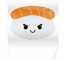 Salmon Sushi Emoji Naughty and Cheeky Poster