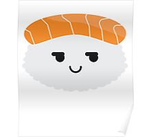 Salmon Sushi Emoji Cheeky and Up to Something Poster