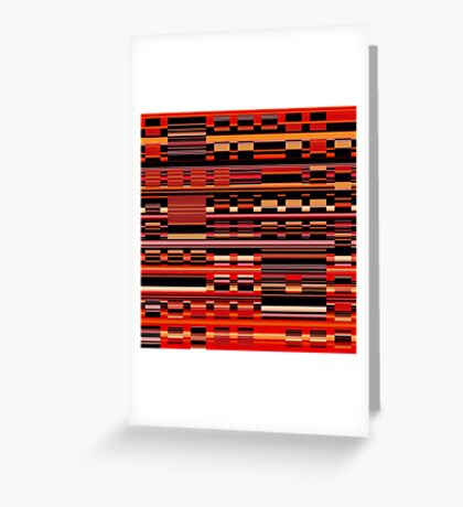 Stripes in Juxtaposition Greeting Card