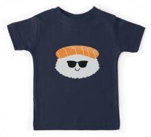 Salmon Sushi Emoji Cool Sunglasses Kids Tee