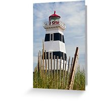 West Point Lighthouse and Dune Fence, PEI, Canada Greeting Card