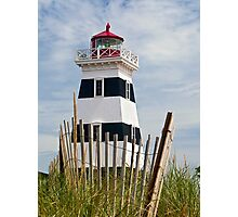 West Point Lighthouse and Dune Fence, PEI, Canada Photographic Print