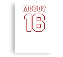 NFL Player Colt McCoy sixteen 16 Canvas Print