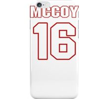 NFL Player Colt McCoy sixteen 16 iPhone Case/Skin