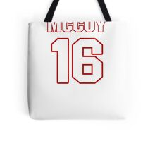 NFL Player Colt McCoy sixteen 16 Tote Bag