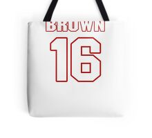 NFL Player Philly Brown sixteen 16 Tote Bag