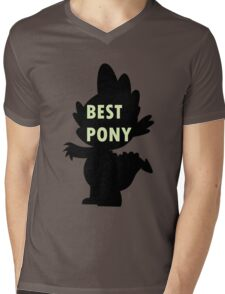 Spike is Best Pony Mens V-Neck T-Shirt
