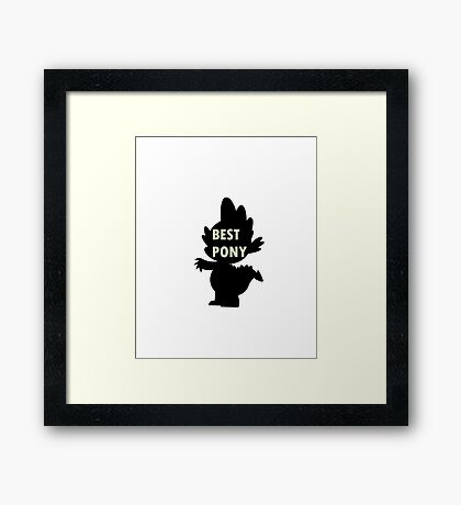 Spike is Best Pony Framed Print