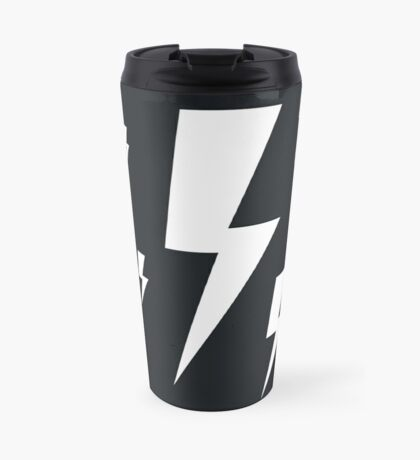 Monochrome Lightning Bolt Travel Mug