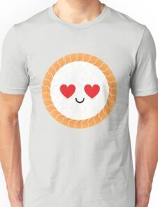 Salmon Maki Sushi Roll Emoji Heart and Love Eye Unisex T-Shirt