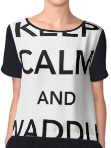Keep Calm And Waddle On - penguin shirt Chiffon Top