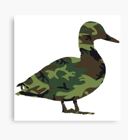 Camo Duck Funny Duck Shirts Canvas Print