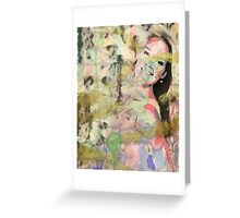 Gold In Her Eyes Greeting Card