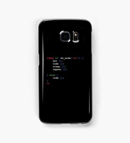 If do mode ON coding t-shirt  Samsung Galaxy Case/Skin