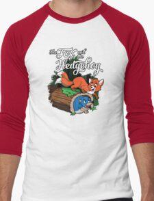 The Fox and the Hedgehog  Men's Baseball ¾ T-Shirt