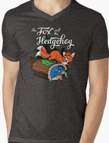 The Fox and the Hedgehog  Mens V-Neck T-Shirt