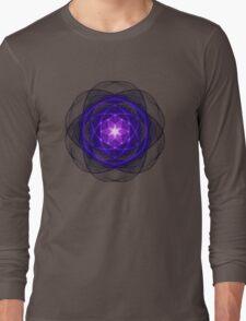 Energetic Geometry - Indigo Prayers Long Sleeve T-Shirt