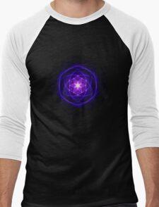 Energetic Geometry - Indigo Prayers Men's Baseball ¾ T-Shirt