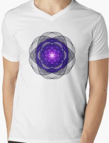 Energetic Geometry - Indigo Prayers Mens V-Neck T-Shirt