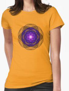 Energetic Geometry - Indigo Prayers Womens Fitted T-Shirt
