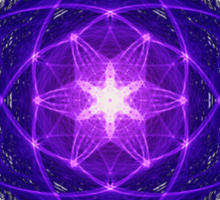 Energetic Geometry - Indigo Prayers Sticker